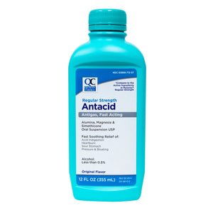QC REGULAR STRENGTH ANTACID, ANTIGAS, FAST ACTING, ORIGINAL FLAVOR - 355ml