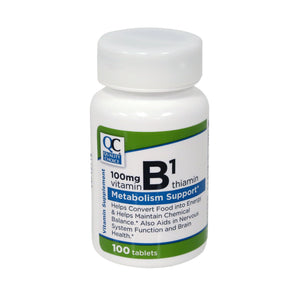 QC VITAMIN B1 100mg, THIAMINE - 100 SOFTGELS