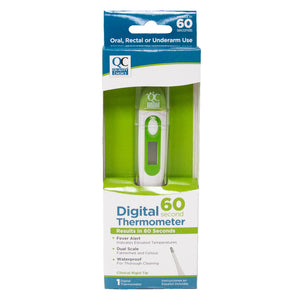 QC DIGITAL THERMOMETER, RESULTS IN 60 SECONDS (1 DIGITAL THERMOMETER)