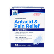 QC EFFERVESCENT ANTACID & PAIN RELIEF, ORIGINAL FLAVOR (36 Effervescent Tablets)
