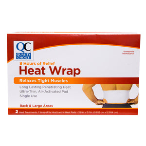 QC HEAT WRAP FOR BACK & LARGE AREAS (2 Heat Treatments, 1 Wrap And 4 Heat Pads)
