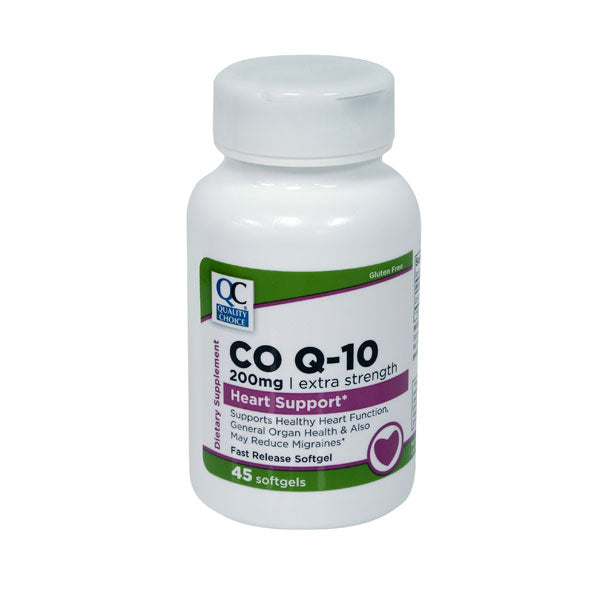 QC EXTRA STRENGTH CO Q- 10 200mg (45 Softgels)