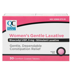 QC WOMEN'S GENTLE LAXATIVE, BISACODYL 5mg (30 comfort coated tablets)