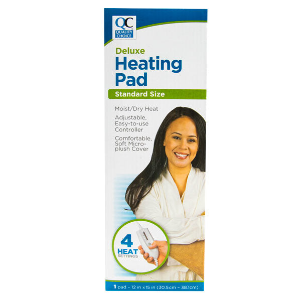 QC DELUXE HEATING PAD, STANDARD SIZE WITH 4 HEAT SETTINGS (1 Pad)