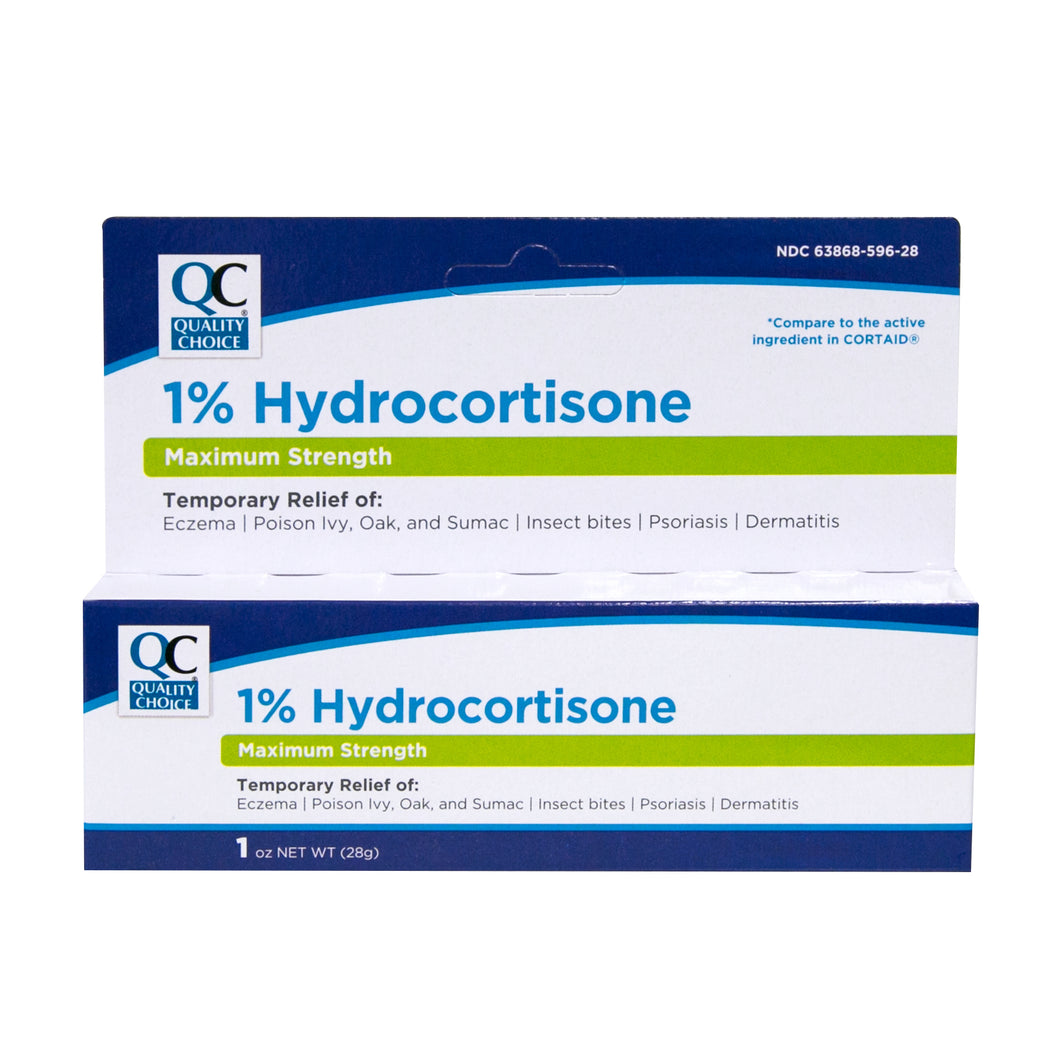 QC MAXIMUM STRENGTH HYDROCORTISONE CREAM (28g)
