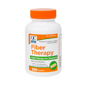 QC FIBER THERAPY, FOR REGULARITY, METHYLCELLULOSE - 100 CAPLETS