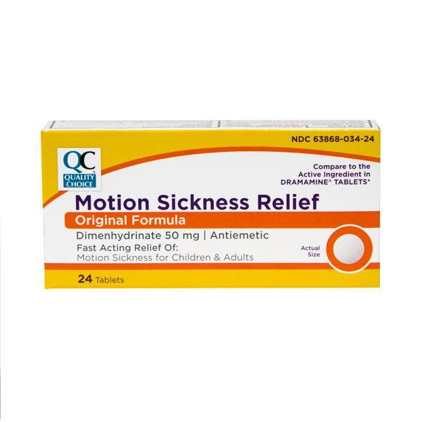 QC MOTION SICKNESS RELIEF, ORIGINAL FORMULA - 24 TABLETS