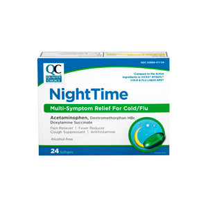 NIGHTTIME MULTI-SYMPTOM RELIEF FOR COLD/FLU, PAIN RELIEVER/ FEVER REDUCER (24 Softgels)