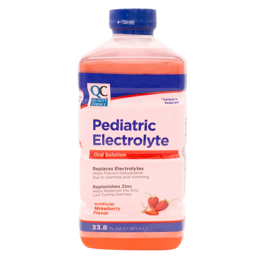 QC PEDIATRIC ELECTROLYTE ORAL SOLUTION, STRAWBERRY FLAVOR (1 LITRE)