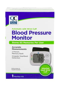 QC BLOOD PRESSURE MONITOR, WITH AUTOMATIC WRIST CUFF - STORES 60 MEMORIES PER USER