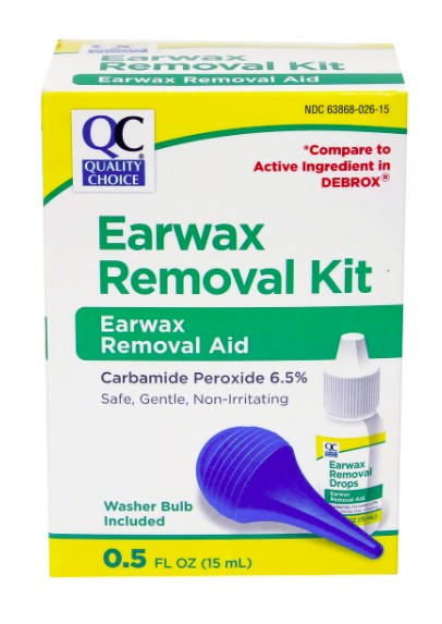 QC EARWAX REMOVAL KIT, EARWAX REMOVAL AID, WASHER BULB INCLUDED (15ml)