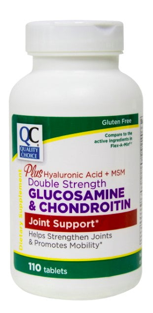 QC DOUBLE STRENGTH GLUCOSAMINE & CHONDROITIN - 110 TABLETS