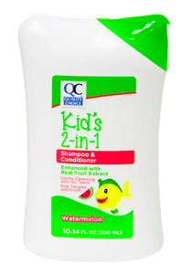 QC KIDS 2-IN-1 SHAMPOO & CONDITIONER, WATERMELON (300ml)