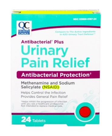 QC ANTIBACTERIAL PLUS URINARY PAIN RELIEF, ANTIBACTERIAL PROTECTION (24 Tablets)