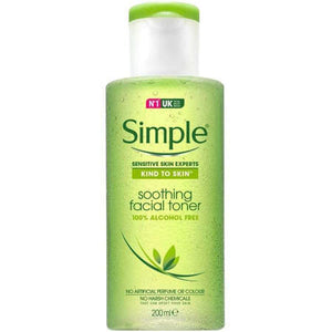 SIMPLE SOOTHING FACIAL TONER, WITH B5, WITCH HAZEL AND ALLANTOIN (200ml)