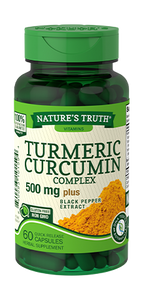 NATURE'S TURMERIC CURCUMIN COMPLEX 500mg PLUS BLACK PEPPER EXTRACT (60 QUICK RELEASE CAPSULES)