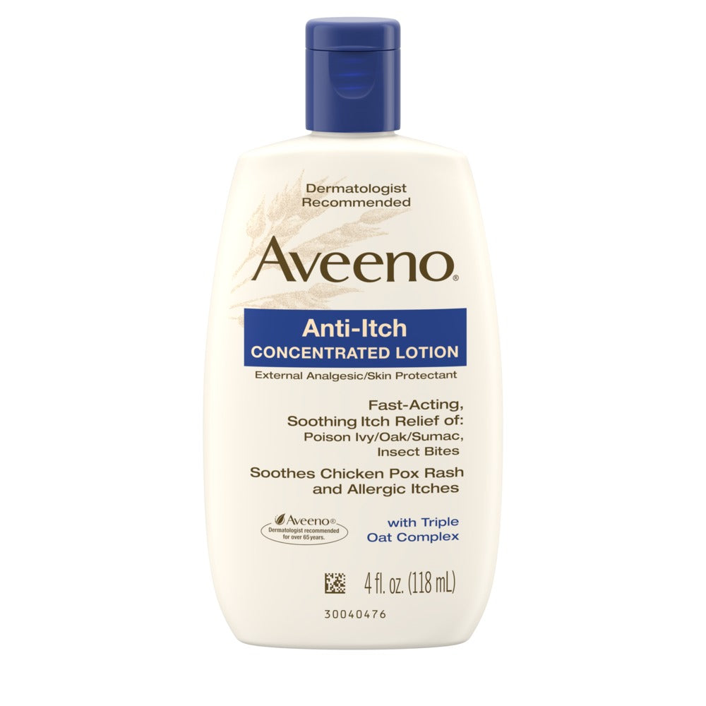 AVEENO ANTI-ITCH CONCENTRATED LOTION, WITH TRIPLE OAT COMPLEX (118ml)