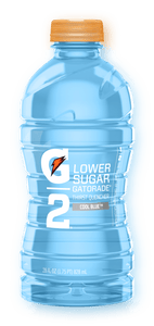 G2 GATORADE THIRST QUENCHER, LOWER SUGAR, COOL BLUE, 140 CALORIE (591ml)