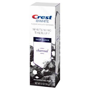 CREST 3D WHITE FLUORIDE ANTICAVITY TOOTHPAST, WHITENING THERAPY, DEEP CLEAN, CHARCOAL INVIGORATING MINT (116g)