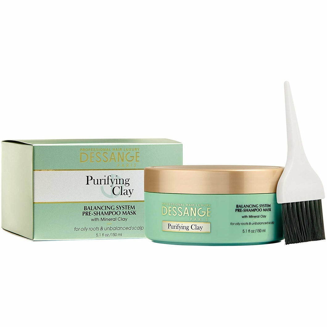 DESSANGE PURIFYING CLAY BALANCING SYSTEM, PRE-SHAMPOO MASK WITH MINERAL CLAY (150ml)