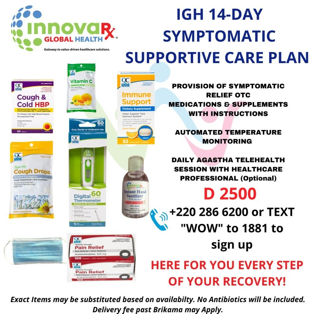 IGH 14-DAY SYMPTOMATIC SUPPORTIVE CARE PLAN (For Children Aged Between 2 Years To 12 Years Old)