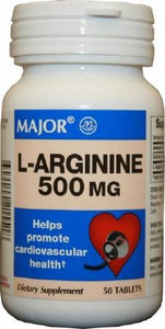 MAJOR L-LARGANINE 500mg DIETARY SUPPLEMENT (50 tablets)