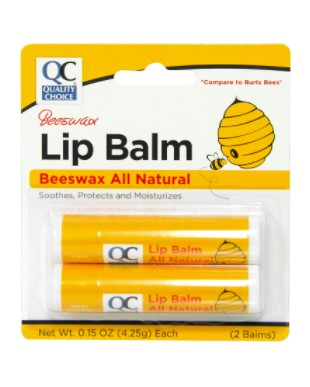 QC BEESWAX LIP BALM (2 BALMS, 4.25g each)