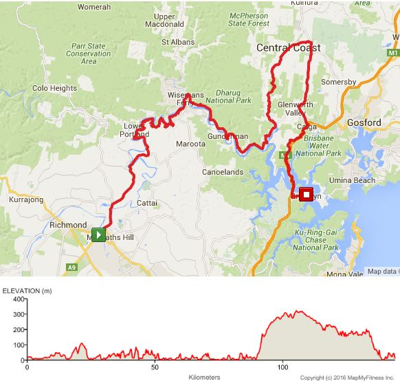 Hawkesbury River Windsor To Brooklyn Via Mangrove Mountain Days - Colo river map