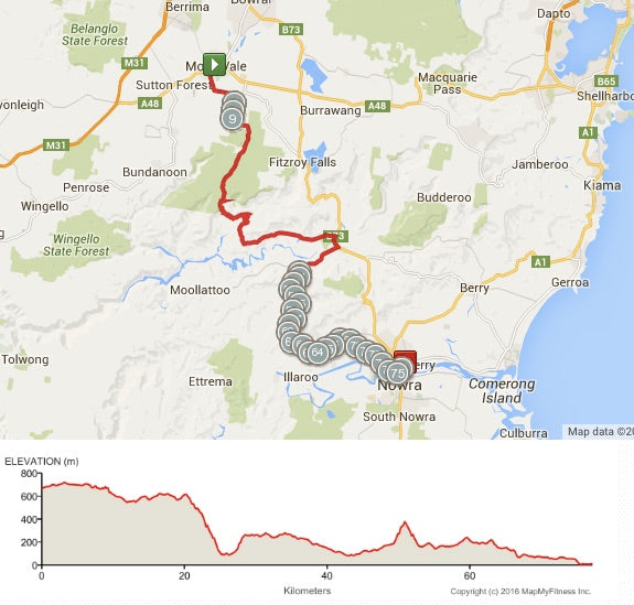 Moss Vale to Nowra 2 days