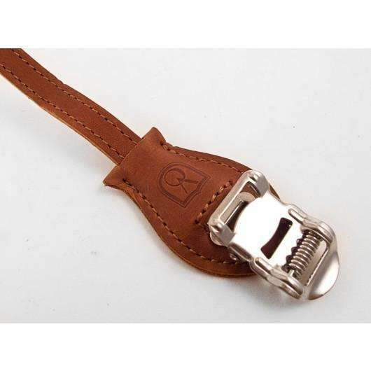Grand Cru Laminated Leather Toe Straps
