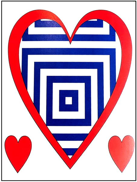 Valentine's Day Card - Optical Illusion Heart