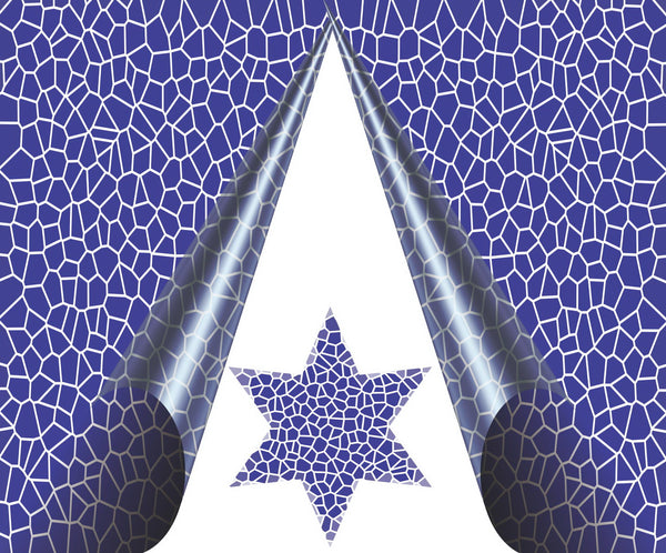 Jewish New Years Greeting Card - Blue Crackle