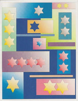 Jewish New Years Greeting Card - Stars