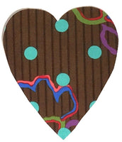 Fusible Applique Hearts - Dots on Brown (50 Pk)