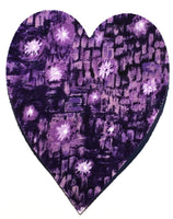 Fusible Applique Hearts - Purple Abstract (50 Pk)