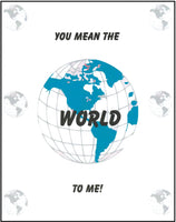 Greeting Card - Father's Day World