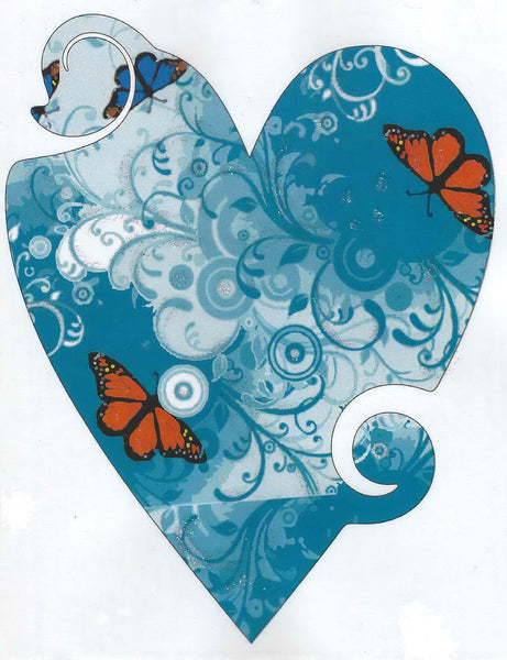 Greeting Card - Mother's Day Blue Heart