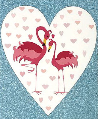 Greeting Card - Mother's Day Flamingos