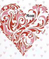 Greeting Card - Mother's Day Red and Pink Heart