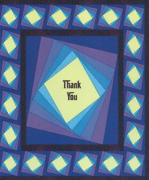 Quilt Themed Greeting Card - Thank You