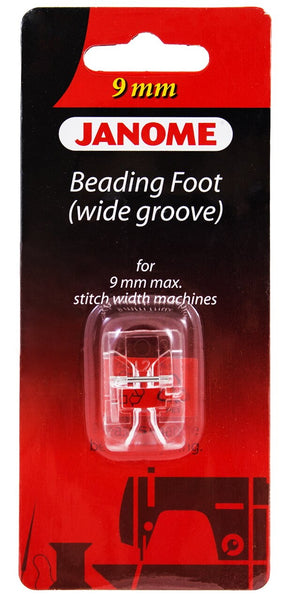 Janome - Beading Foot (Wide Groove) - For 9mm Max Stitch Width Machines