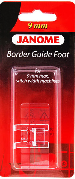 Janome - Border Guide Foot - For 9mm Max Stitch Width Machines