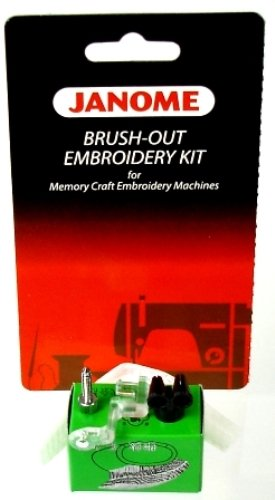 Janome - Brush-Out Embroidery Kit For Memory Craft Embroidery Machines