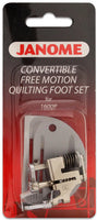 Janome - Convertible Free Motion Quilting Foot Set For 1600P