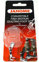 Janome - Convertible Free Motion Quilting Foot Set For Low Shank Models