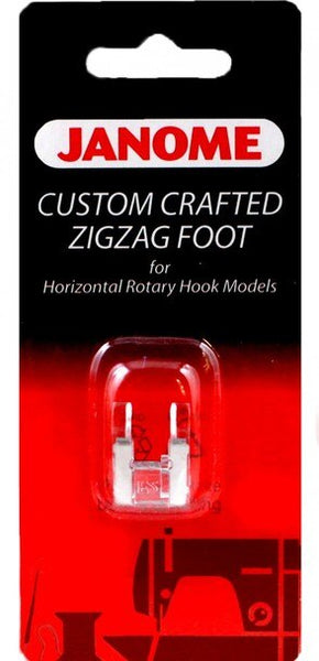 Janome - Custom Crafted Zigzag Foot For Horizontal Rotary Hook Models
