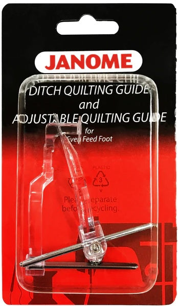 Janome Ditch Quilting Guide and Adjustable Quilting Guide For Even Feed Foot