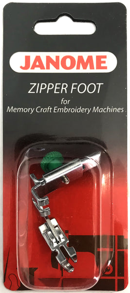Janome Zipper Foot For Memory Craft Embroidery Machines