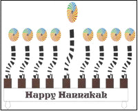 Hanukkah Greeting Card - Kaleidoscope Menorah