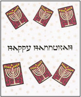 Hanukkah Greeting Card - Menorahs in Boxes